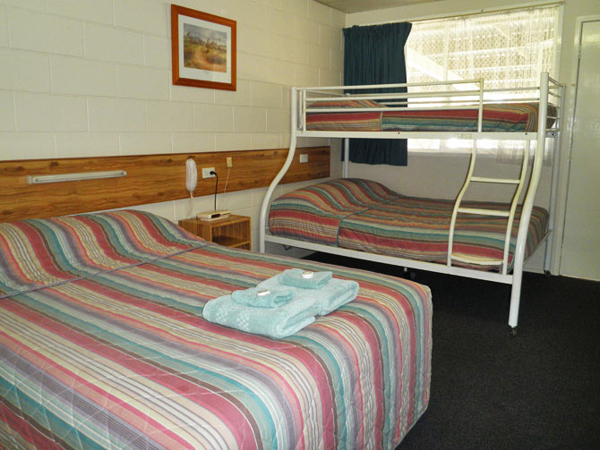 Our rooms cater for all size groups from single right up to family of five